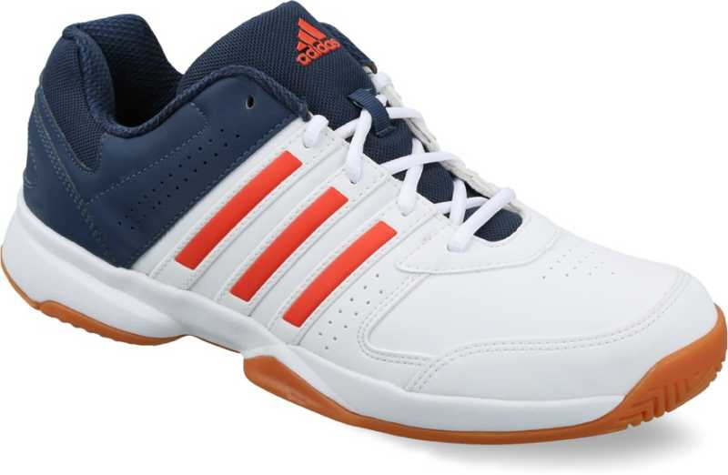 Adidas Men's Acosta in White, Red and Blue Volleyball Shoes