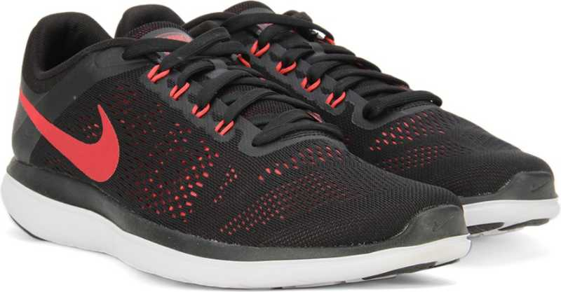 Leo un libro mezcla Libro  Nike FLEX 2016 RN Running Shoes For Men - Buy BLACK/UNIVERSITY RED-EMBER  GLOW-WHITE Color Nike FLEX 2016 RN Running Shoes For Men Online at Best  Price - Shop Online for Footwears in
