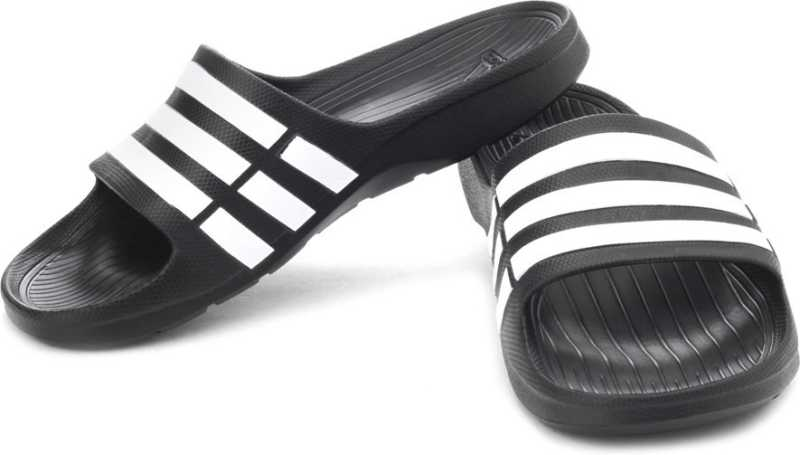 b2bcab9d1 ADIDAS DURAMO SLIDE Slippers - Buy BLACK1 WHT BLACK1 Color ADIDAS DURAMO  SLIDE Slippers Online at Best Price - Shop Online for Footwears in India ...