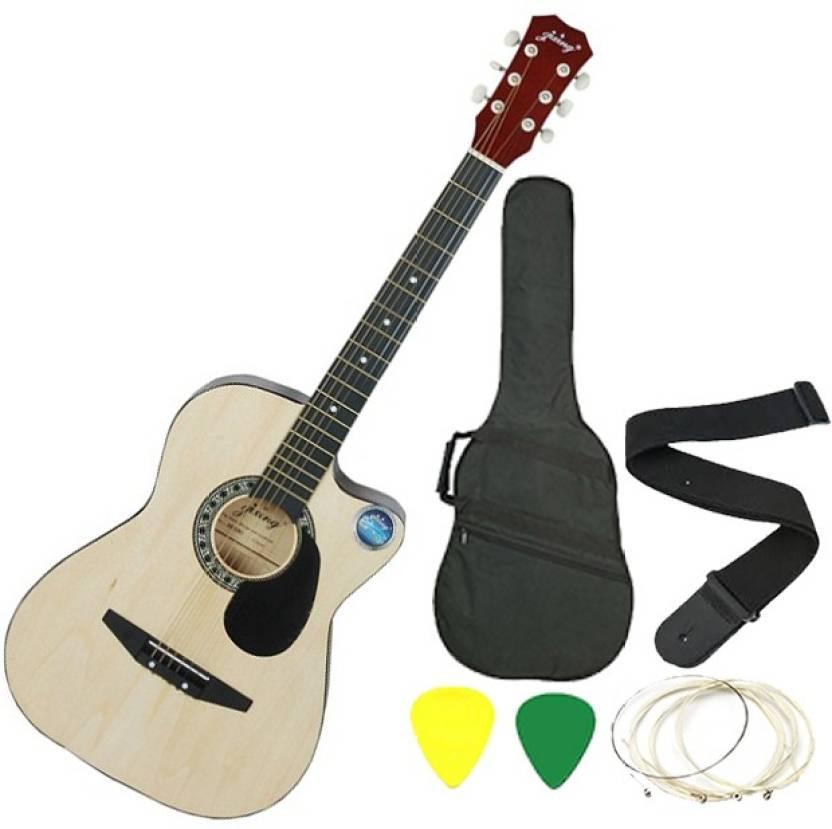 Jixing JXNG-NAT-C Linden Wood Acoustic Guitar