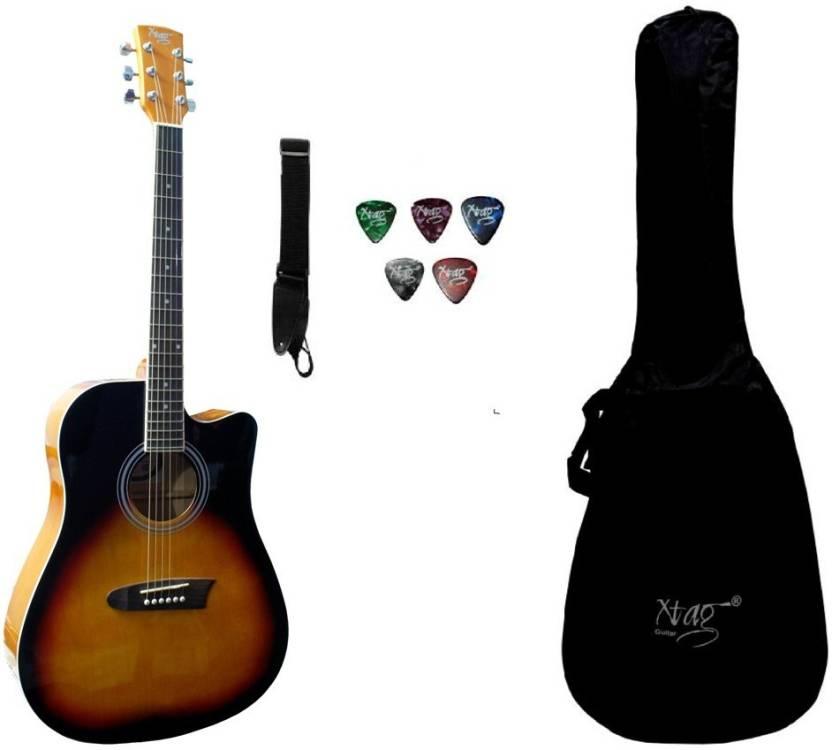 8b6f256f346 Xtag X-41C Sunburst (41 Inches) Spruce Acoustic Guitar Price in India - Buy  Xtag X-41C Sunburst (41 Inches) Spruce Acoustic Guitar online at  Flipkart.com