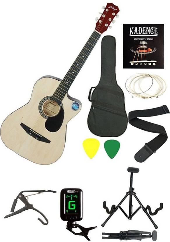Jixing JXNG-NAT-SC Linden Wood Acoustic Guitar