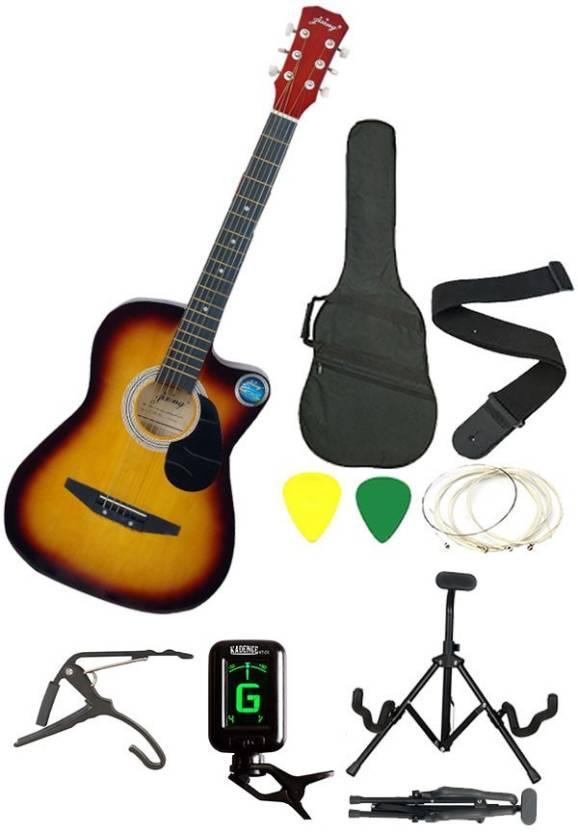 Jixing JXNG-SUN-SC Linden Wood Acoustic Guitar