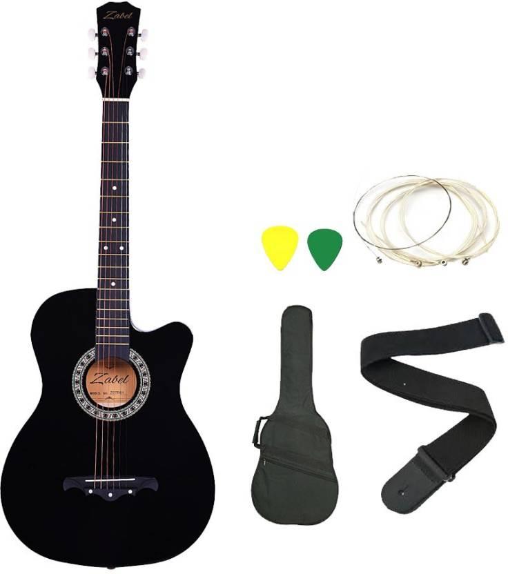 Zabel ZBL-ETR-BLK-SC Linden Wood Acoustic Guitar