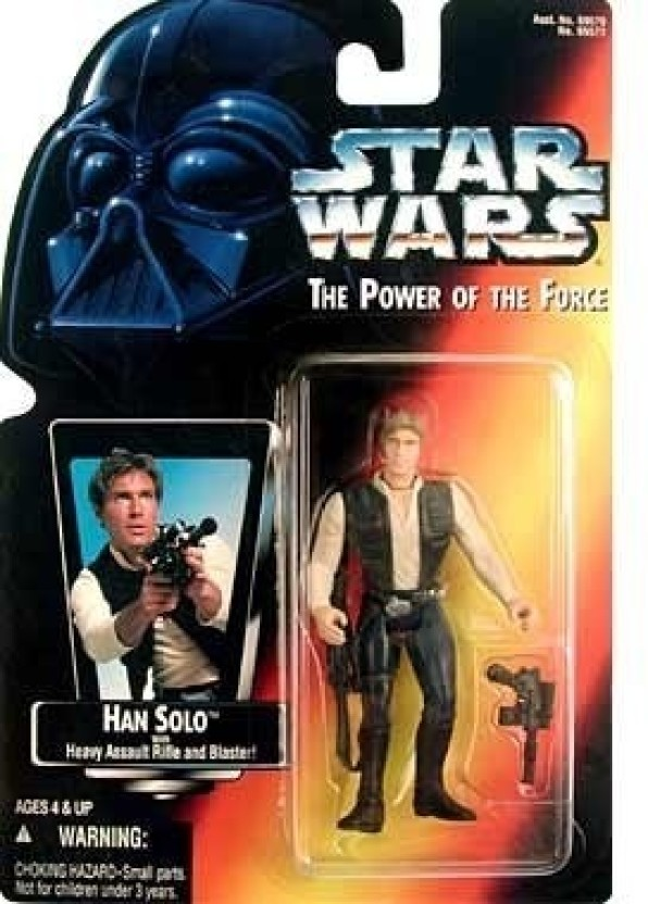 Kenner Star Wars Power Of The Force Han Solo with Blaster Action Figure New!