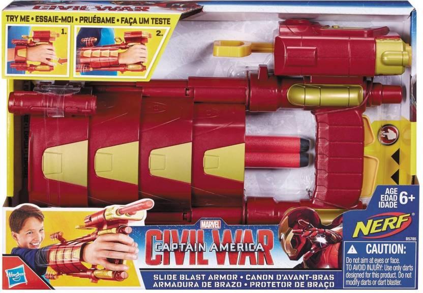 Funskool Marvel s Captain America  Civil War Iron Man s Slide Blast Armor  by Hasbro (Multicolor) 93e0716cb