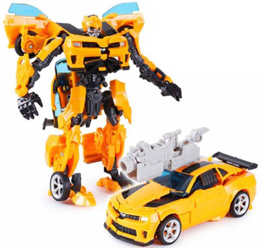 3249da65e8ed33 Kiditos Transformers Leader Class Bumblebee Robot to Car Converting Figure  (Multicolor)