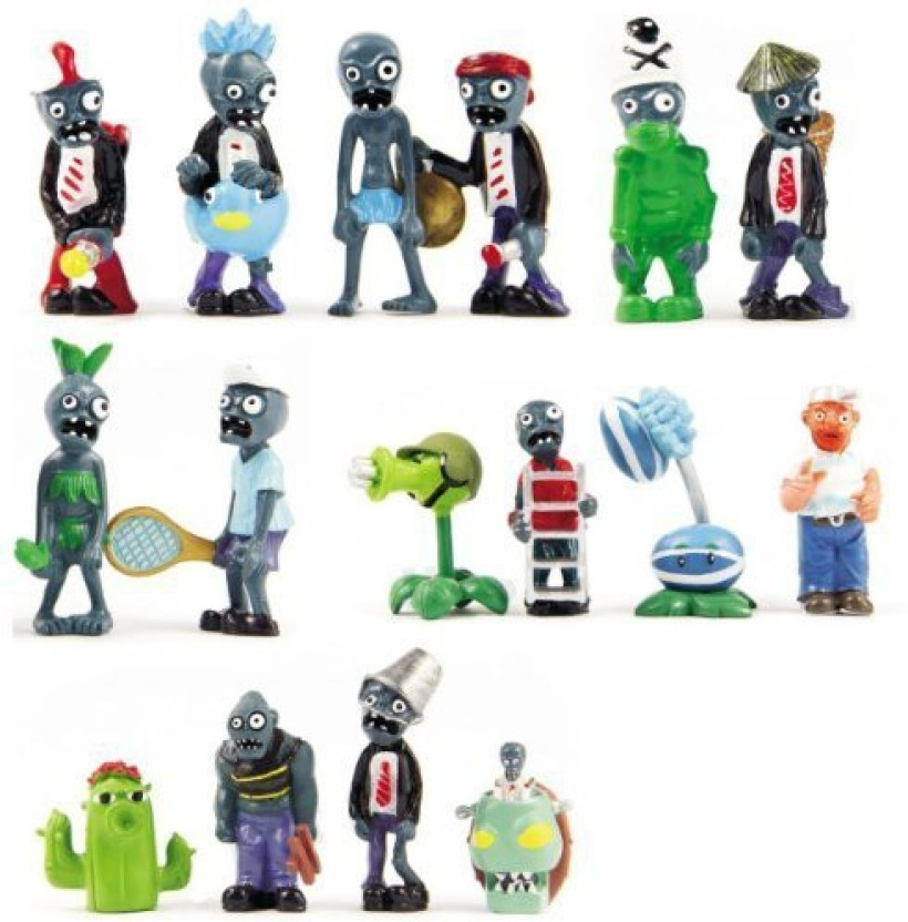 16 Pcs Plants Vs Zombies Toys Garden Warfare Action Figures Set Display Toy