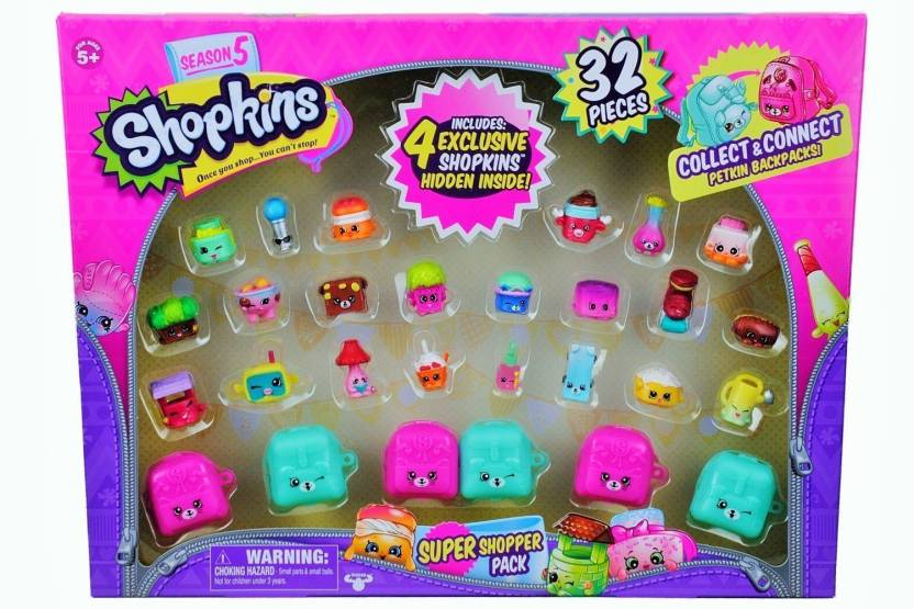 Shopkins Season 5 Super Shopper Pack Includes 4 Hidden Inside