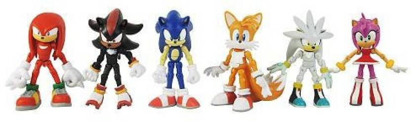 Jazwares Toys Sonic The Hedgehog Modern Exclusive 6 Pack Sonic The