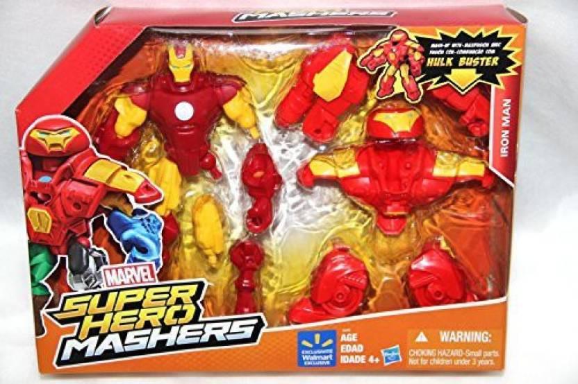 Hasbro Marvel Super Hero Mashers Iron Man Mashup W  Hulk Buster ... faad1527e0