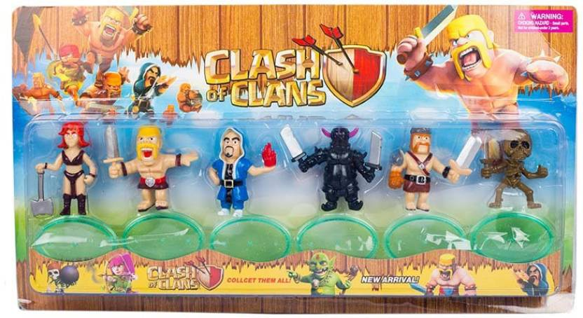 Niky Clash Of Clans Action Figure Set Of 6 Pcs - Clash Of