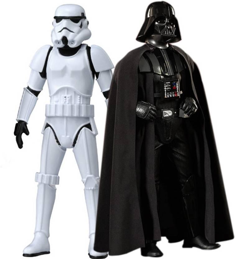 991863227f0 Emob Star Wars Stormtrooper   Darth Vader Big Size Action Figure (Black