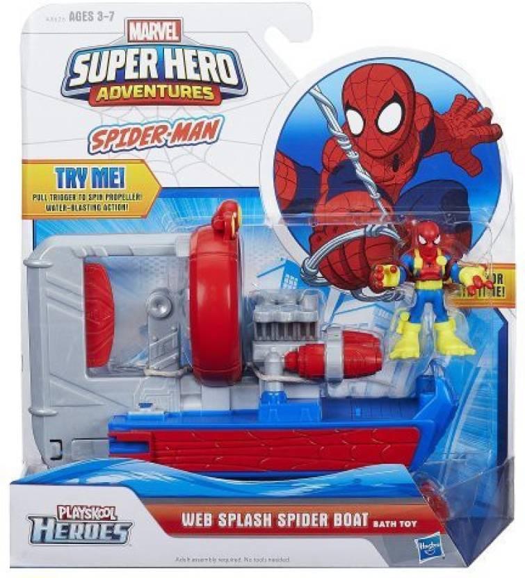 Playskool Heroes Marvel Super Hero Adventures Web Splash Spider Boat ...
