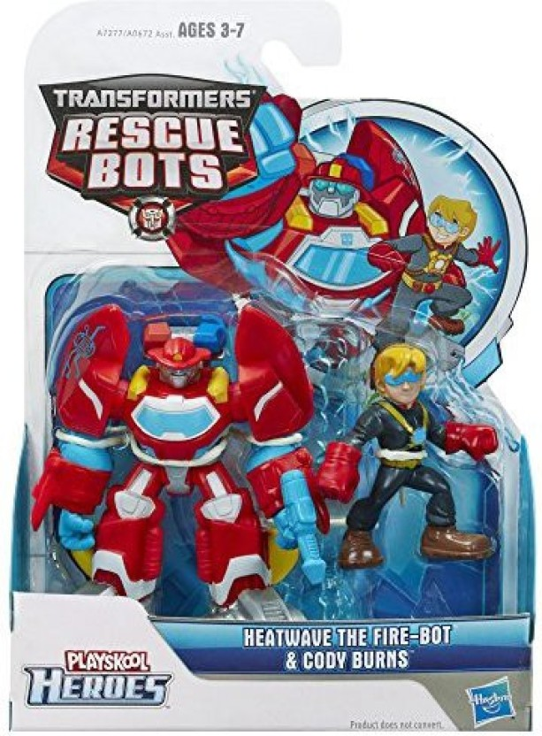 Playskool Heroes Transformers Rescue Bots Energize Heatwave the Fire-Bot Action