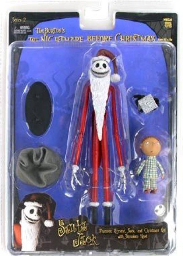 Nightmare Before Christmas NECA Tim Burtons The Series 2 Action Figure Santa Jack (Multicolor)