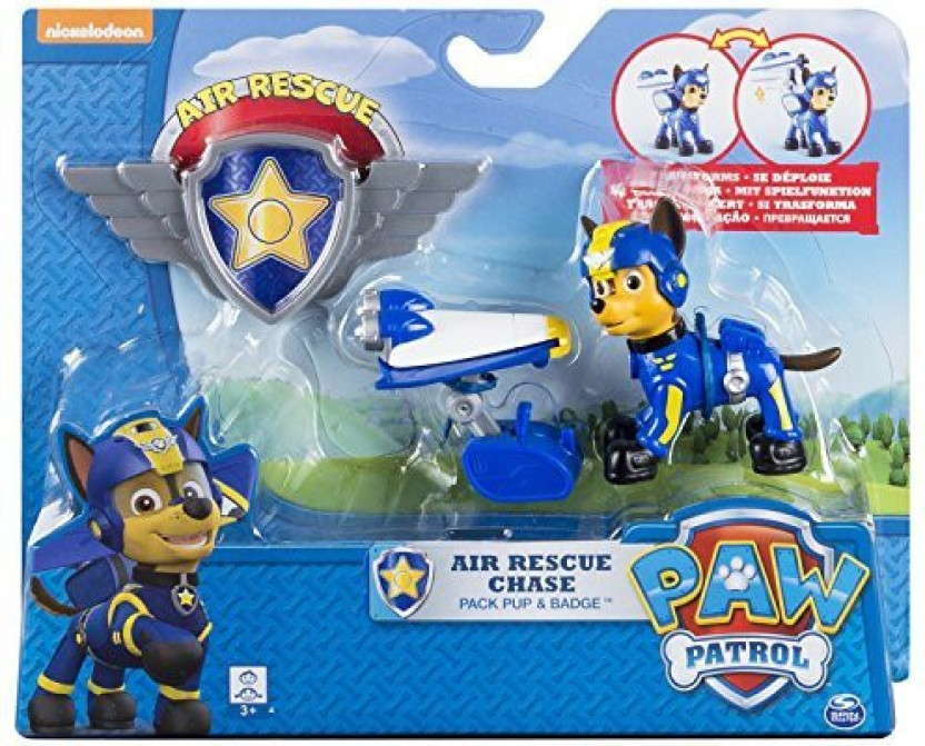 Pup Pack /& Badge Paw Patrol Air Rescue Rocky