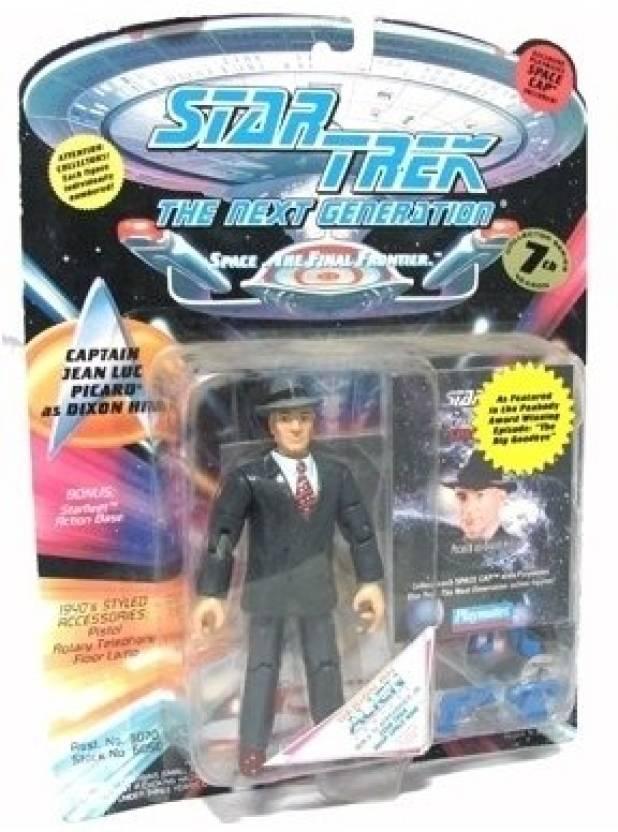 2f653ee0b549e Playmates Toys Star Trek The Next Generation Captain Jean Luc Picard as  Dixon Hill 4 inch Action Figure (Black)
