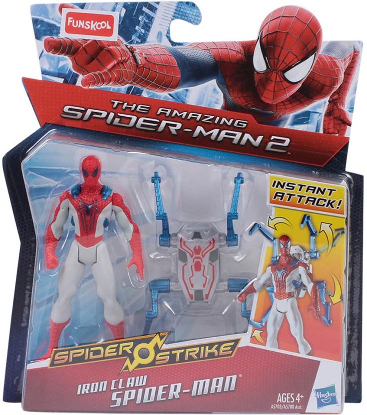 The Amazing Spider-Man 2 Spider Strike Spider-Man Iron Claw Hasbro A5703 nouveau