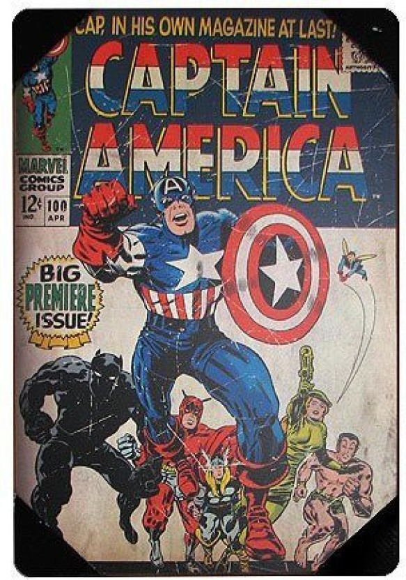 The phrase Avengers captain america comic book covers
