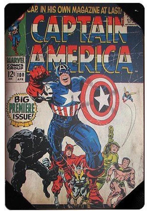 The phrase Avengers captain america comic book covers