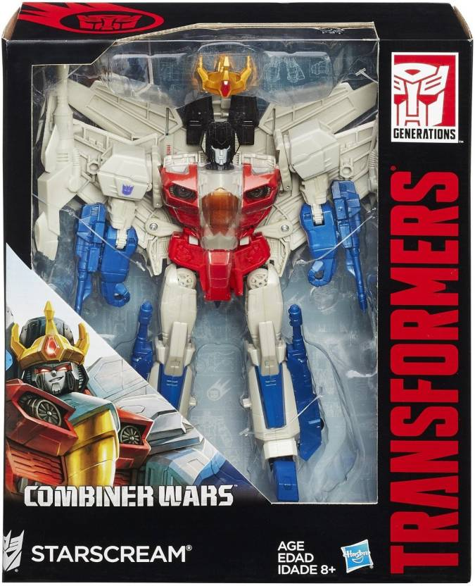 Funskool Transformers Generations Leader Class Starscream Figure (Multicolor)