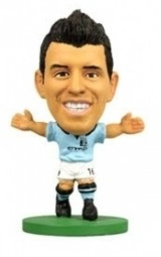 half off ee117 a3997 SoccerStarz Man City Sergio Aguero - Home Kit