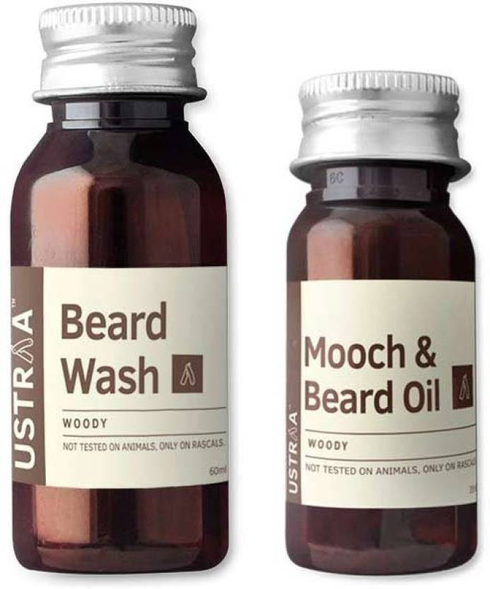 Ustraa By Happily Unmarried Beard Wash and Mooch Oil ( Set of 2) (95 ml)
