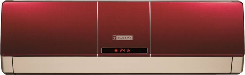 Blue Star 1 Ton 5 Star Split AC Wine Red