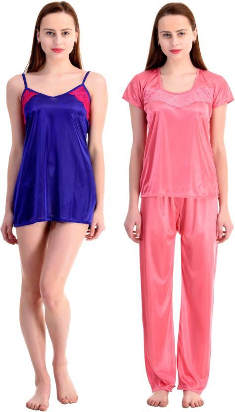 1118b3182e Claura Night Suit Women's Combo - Buy Claura Night Suit Women's Combo  Online at Best Prices in India | Flipkart.com