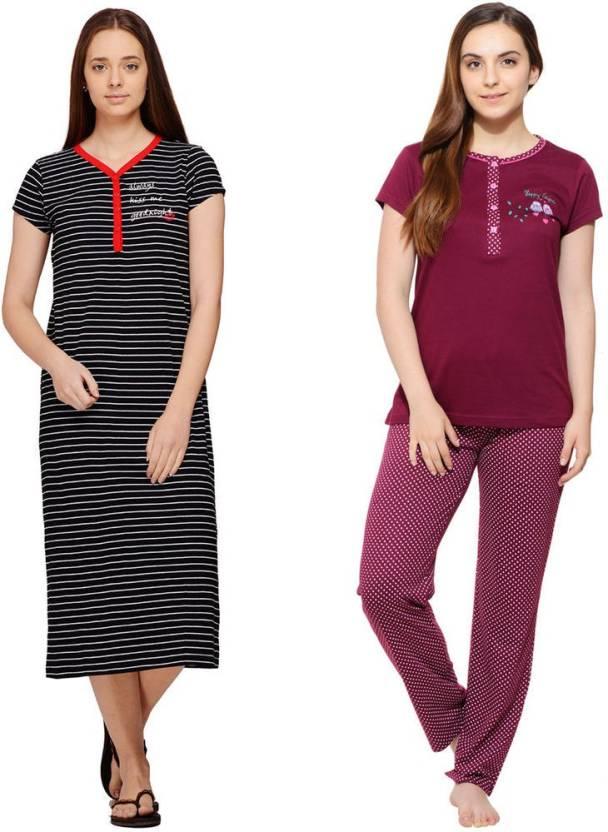 034e5f08cc 1 For Me Night Suit Women's Combo - Buy 1 For Me Night Suit Women's Combo  Online at Best Prices in India | Flipkart.com
