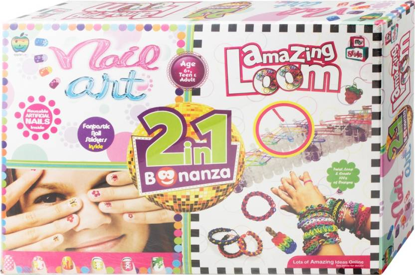 Apple Fun Nail Art & Amazing Loom 2 in 1 Pack - Nail Art & Amazing ...
