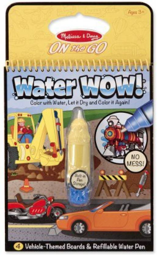 Melissa & Doug Water Wow Coloring Book Vehicles - Water Wow ...