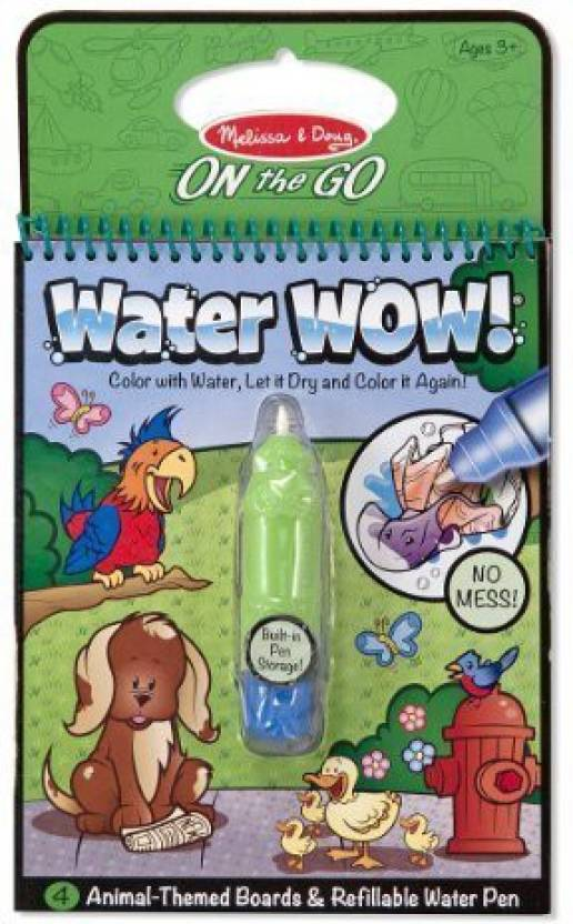 Melissa & Doug Water Wow Coloring Book Animals by - Water Wow ...