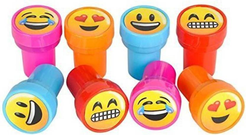 RIN Emoji Smiley Stamps Birthday Party Supplies Loot Bag Accessories 24 Pieces Per Unit
