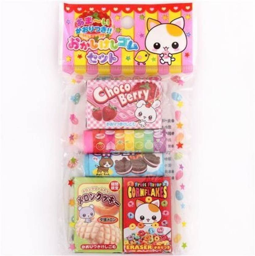 864c1de9f47e4 Kawaii 5 cute snack scented erasers from Japan kawaii - 5 cute snack  scented erasers from Japan kawaii . shop for Kawaii products in India.