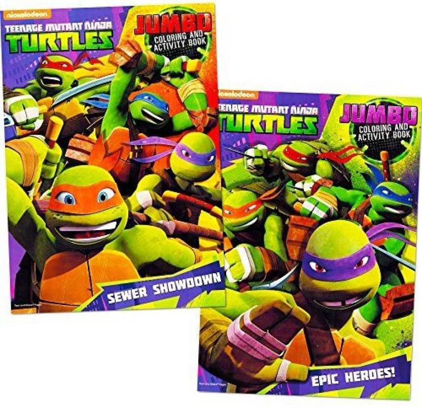 Teenage Mutant Ninja Turtles Coloring Book Set 2 Books - Coloring ...