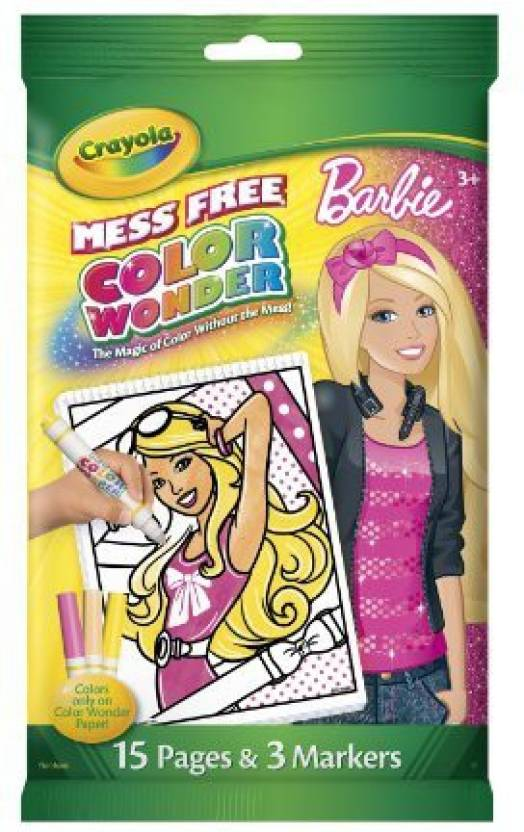 crayola color wonder barbie mini coloring pad and markers color