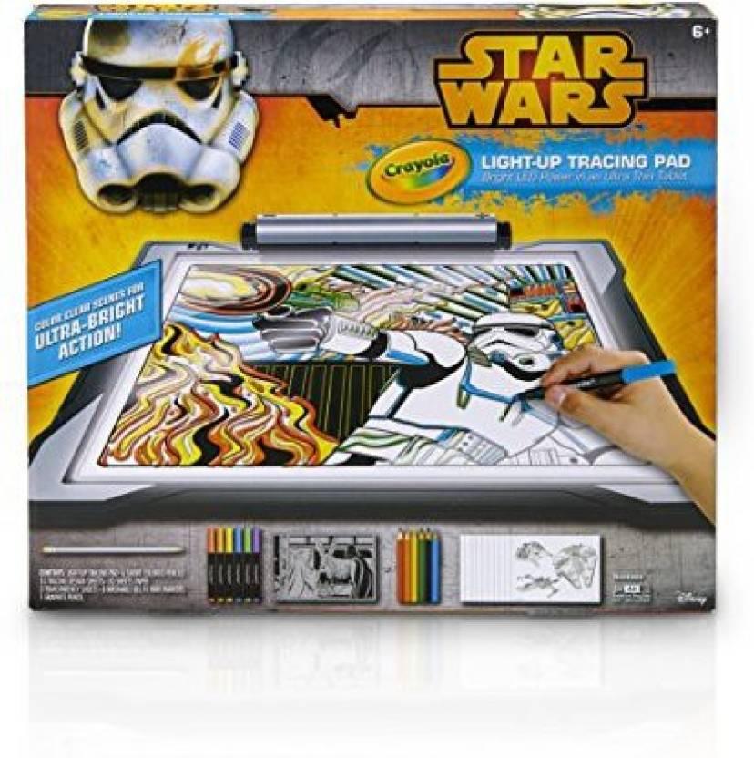 crayola star wars light up tracing pad star wars light up tracing