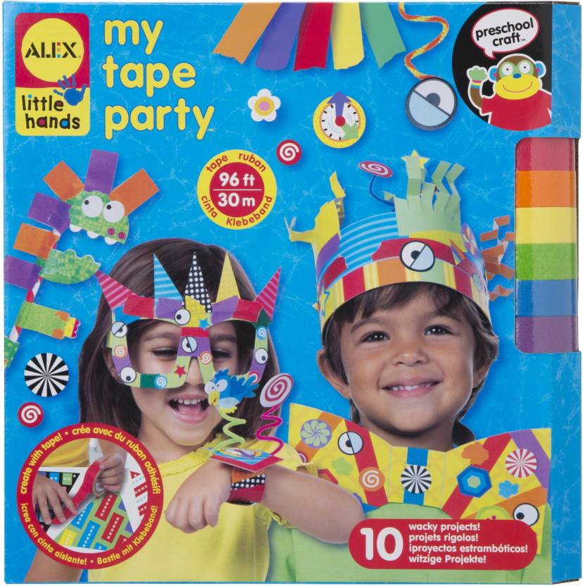 Alex Toys Little Hands My Tape Party Craft Kit Assorted Colors