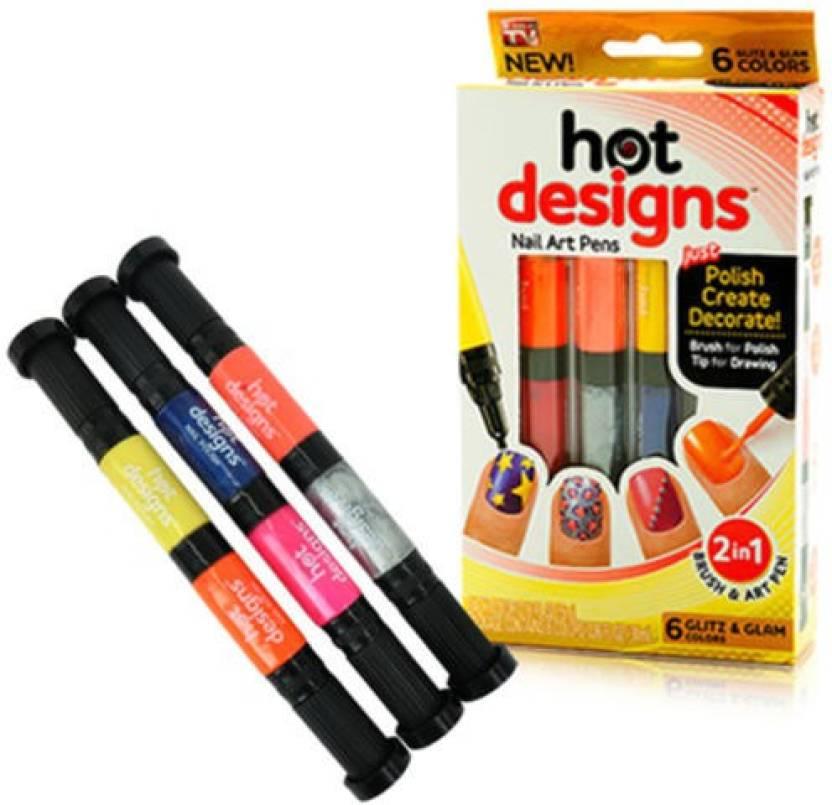 Kartsasta 2 In 1 Hot Designs Beautiful Nail Art Polish Pens With 6