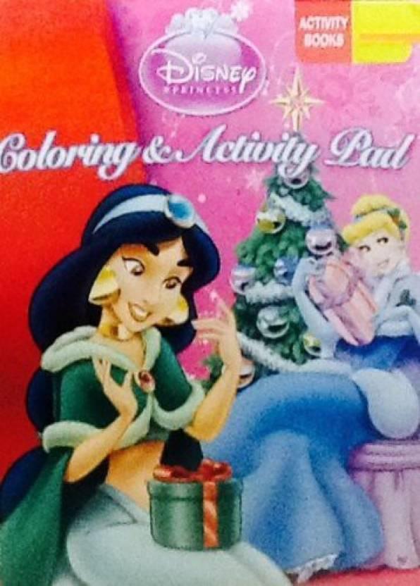 Disney Princess Coloring Activity Flip Top Pad 64 Pages Holiday Christmas