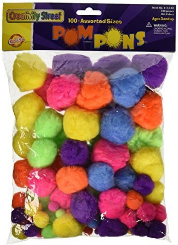 07f2ec51ae1 Chenille Kraft AC8112-02DI Non-Toxic Pom Pon