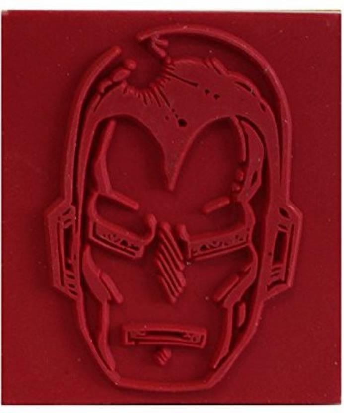 Rubber Stamp Marvel Comics Retro Iron Man Head - Marvel Comics Retro