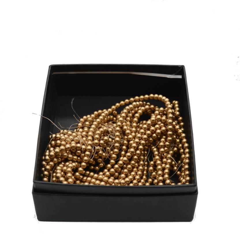 Ecaart Dull Gold Plastic Beads For Jewellery Making