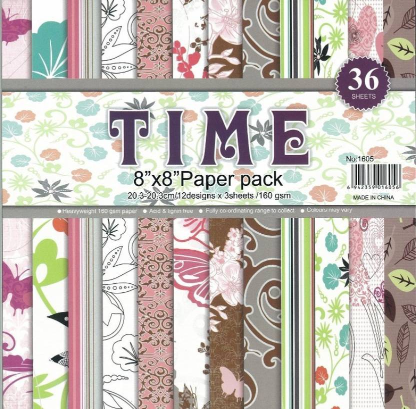 Craftdev Set Of 36 Thick Beautiful Pattern Design Printed Papers For