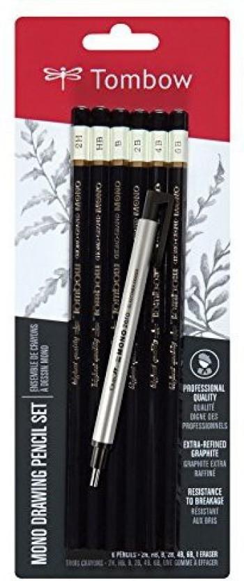 1 Pack 4 Pencils /& 1 Eraser Prismacolor Scholar Graphite Pencil Drawing Set
