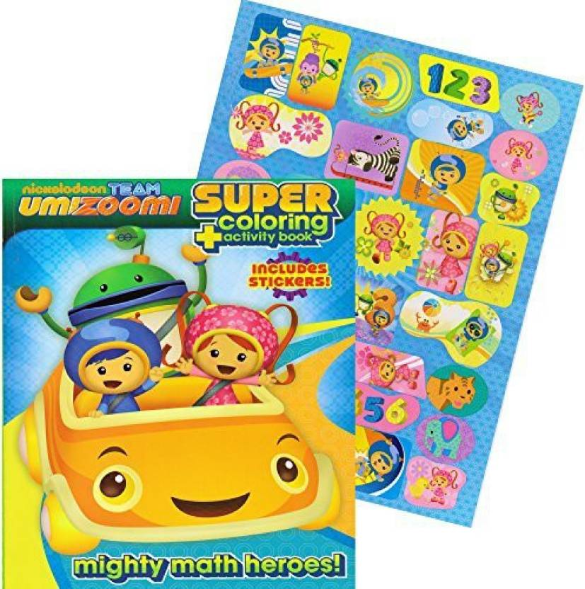 Krafts4kids Team Umizoomi Jumbo Coloring Book With Stickers