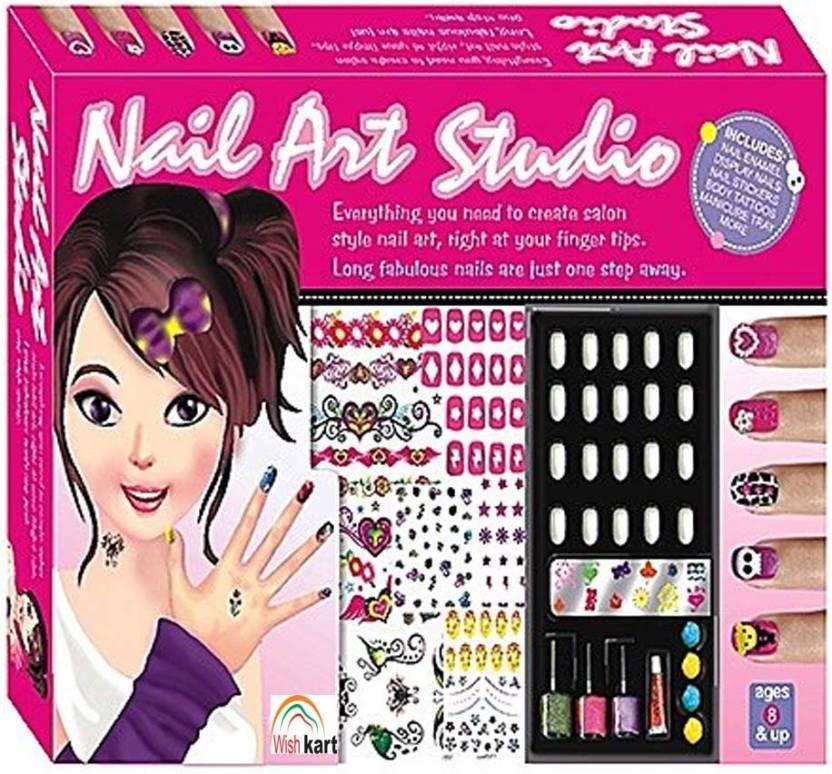 Wishkart Nail Art Studio Salon Kit For Girls - Nail Art Studio Salon ...