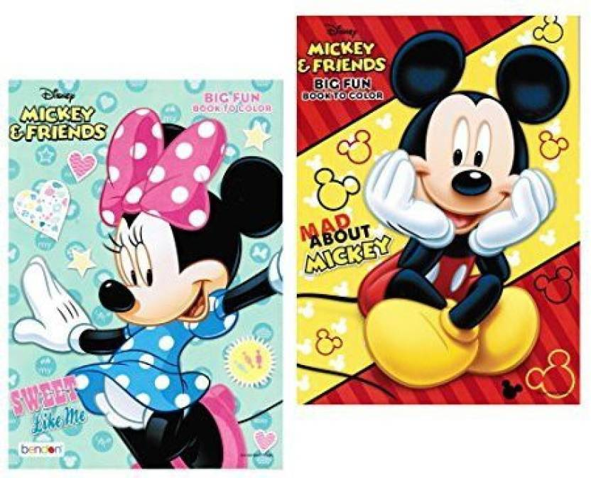 Disney Mickey And Minnie Mouse Coloring Book Set With Tear And Share ...